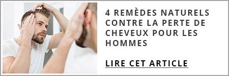 4 remèdes naturels contre la perte de cheveux pour les hommes