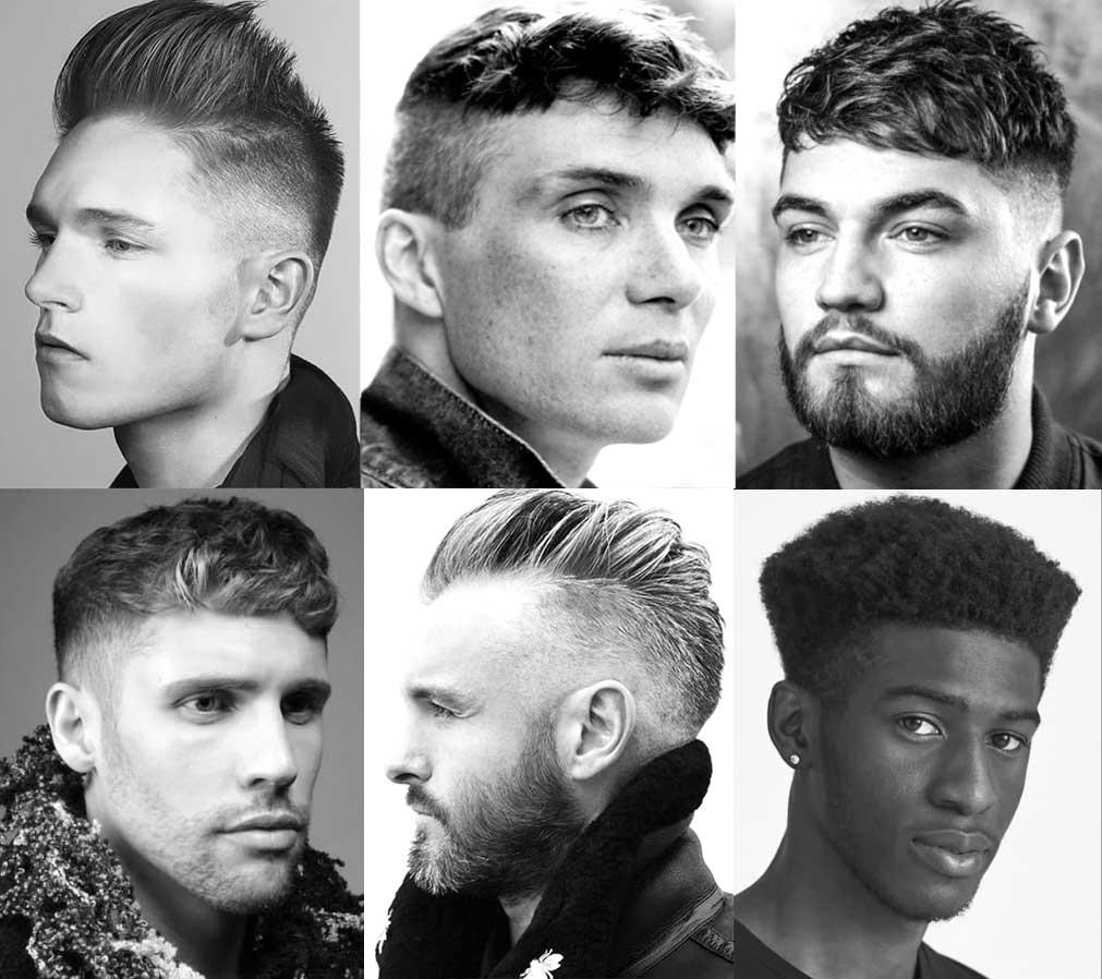 Coupes de cheveux pour hommes avec la sГ©paration au centre